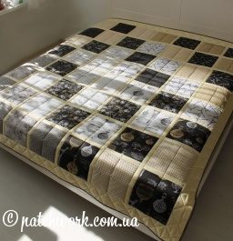 "Patchwork blanket ""Paris"""