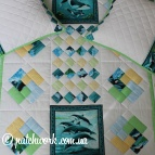 "Patchwork bedspread ""Dolphins"""