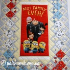 "Patchwork blanket ""Best Family"""