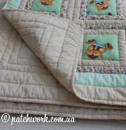 "Baby quilt ""Bears - 1"""