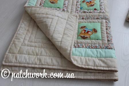 """Детское лоскутное одеяло """"Мишки - 1"""""""