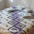 "Patchwork blanket ""Lilac dreams - 3"""
