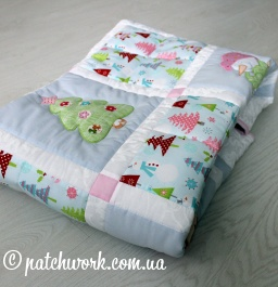 "Patchwork bambino Blanket ""Natale"""