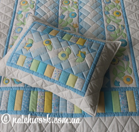"Patchwork copriletto ""Tenderness - 2"""