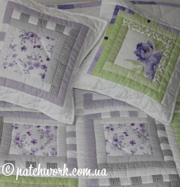 "Patchwork coperta ""Purple Dream"""