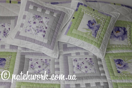 "Patchwork blanket ""Purple Dream"""