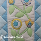 "Patchwork bedspread ""Tenderness - 2"""