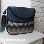 Borsa in denim trapuntato