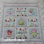 "Patchwork Baby Blanket ""Christmas"""