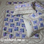 "Patchwork coverlet ""Gentle Lilacs"""