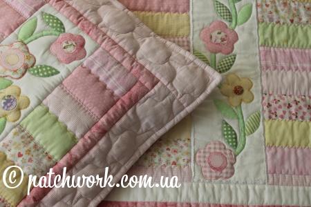 """Лоскутное одеяло- покрывало """"Нежность"""""""