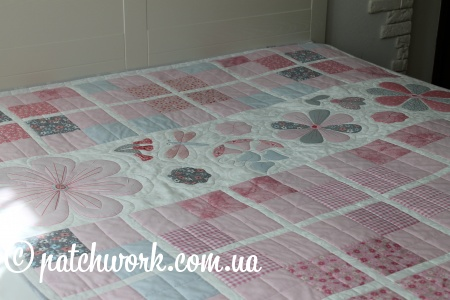 "Quilt cover ""Pink tenderness"""