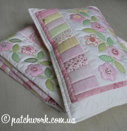 "Patchwork coverlet ""Tenderness - 3"""