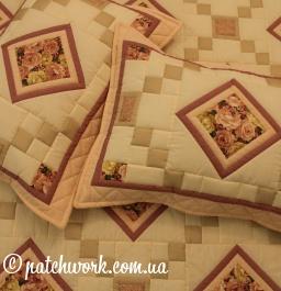 """Patchwork quilt blanket """"Roses"""""""
