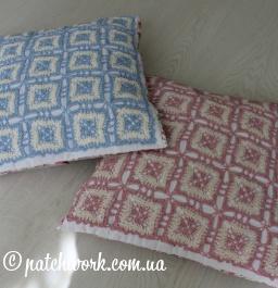 Pillowcases con inserti a maglia