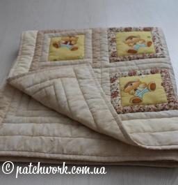 """Детское лоскутное одеяло """"Мишки - 2"""""""
