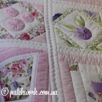 "Patchwork copriletto-panel ""Serenity"""