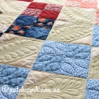 "Patchwork bedspread ""Play of colors"""