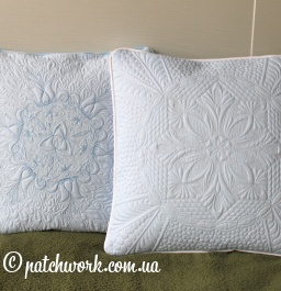 "Quilted pillowcases ""Snow"""