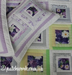 "Quilt cover-blanket ""Lilac dreams - 2"""