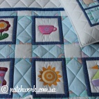 "Patchwork quilt - veil ""Funny pictures"""