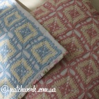 Pillowcases with knitted inserts