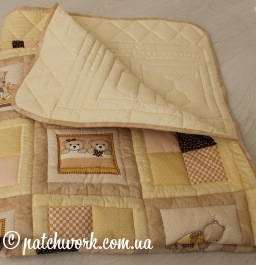 "Лоскутное одеяло ""Медвежата"""