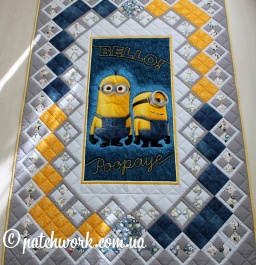 "Trapunta patchwork ""Minions"""