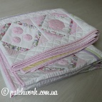 "Quilted coverlet ""Serenity - 2"""