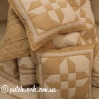 "Patchwork bedspread ""tea with milk"""