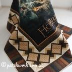 """Bedspread """"Hobbit"""" in patchwork style."""
