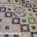 "Patchwork bedspread ""Tinkerbell"""