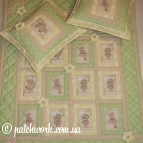"Baby quilt ""Lovers Bears"""