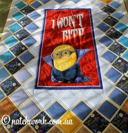 "Trapunta patchwork ""Minions - I Don't Bite"""