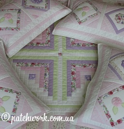 """Quilted coverlet """"Serenity - 2"""""""