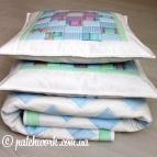 """Patchwork bedspread """"Zigzag"""""""