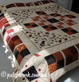 "Patchwork blanket ""Based on Morris"""