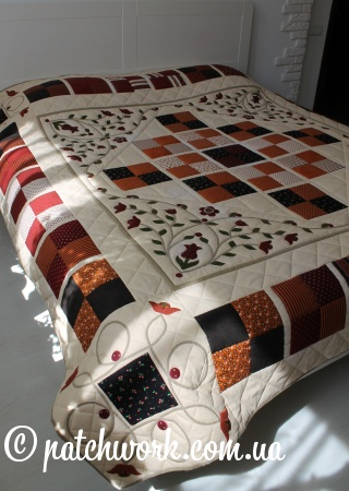 """Coperta patchwork """"Basato su Morris"""""""